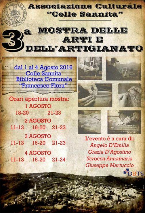 A Colle Sannita al via la terza edizione della Mostra delle Arti e dell'Artigianato