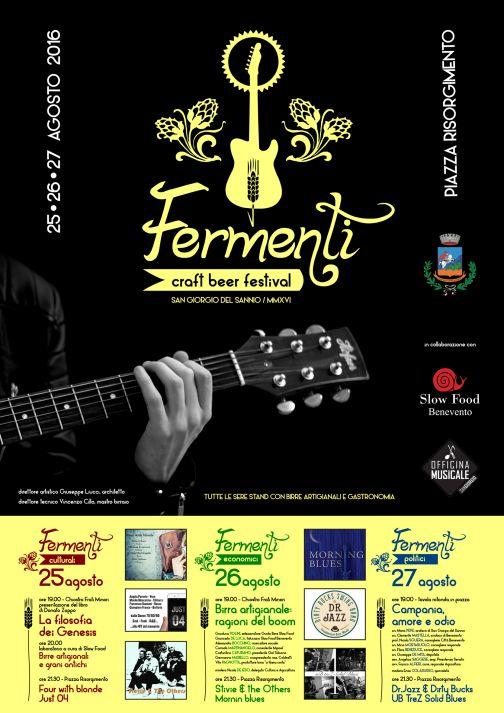 San Giorgio del Sannio, Festival Fermenti: dal 25 al 27 agosto