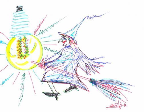Realizzato dal maestro Lello Esposito il logo di 'Streghe in luce'