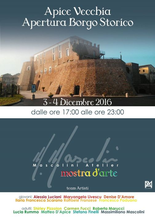 Apice Vecchia, il Borgo Storico accoglie l'arte di Massimiliano Mascolini