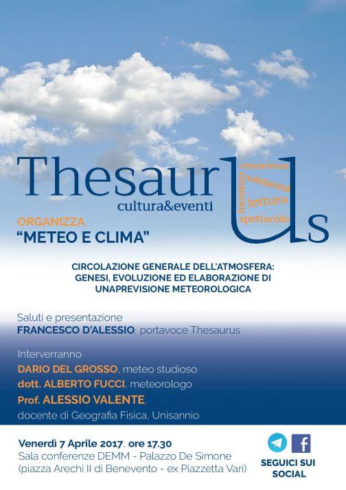 Meteo e Clima, convegno di 'Thesaurus' a Benevento