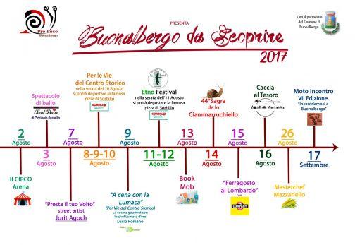 'Buonalbergo da scoprire', il calendario degli eventi