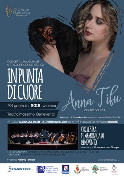 «In punta di cuore», l'Orchestra Filarmonica di Benevento inaugura la V Stagione concertistica