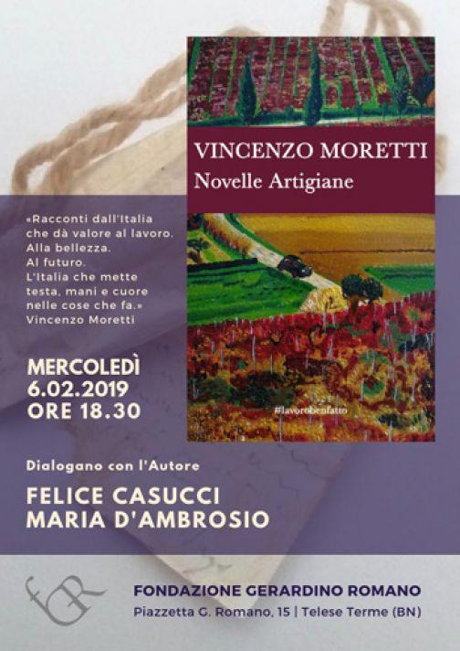 """Telese Terme, domani le """"Novelle artigiane"""" con Vincenzo Moretti"""