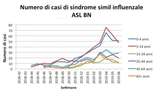 Asl, influenza: a gennaio il picco epidemico