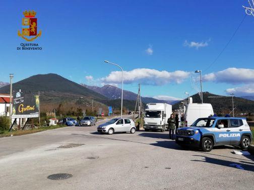 Provincia Sicura, controlli della Polizia in Valle Telesina