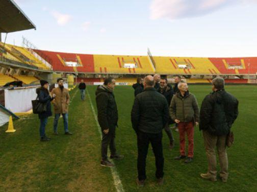Sopralluogo di una delegazione della FISU allo stadio Ciro Vigorito