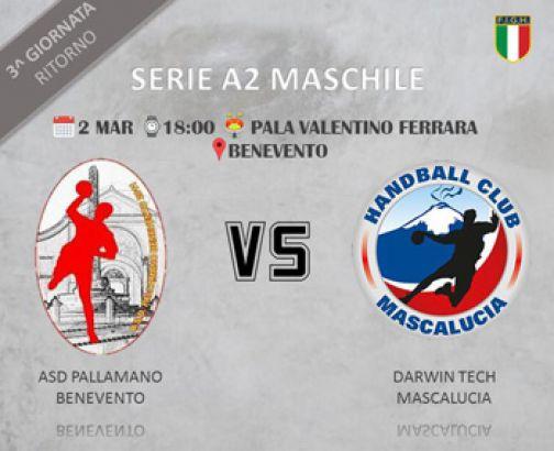 Pallamano, A2: sabato Benevento-Mascalucia Catania