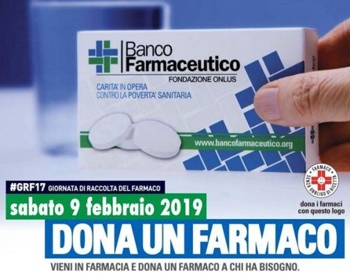 Sabato 9 febbraio torna la Giornata di Raccolta del Farmaco