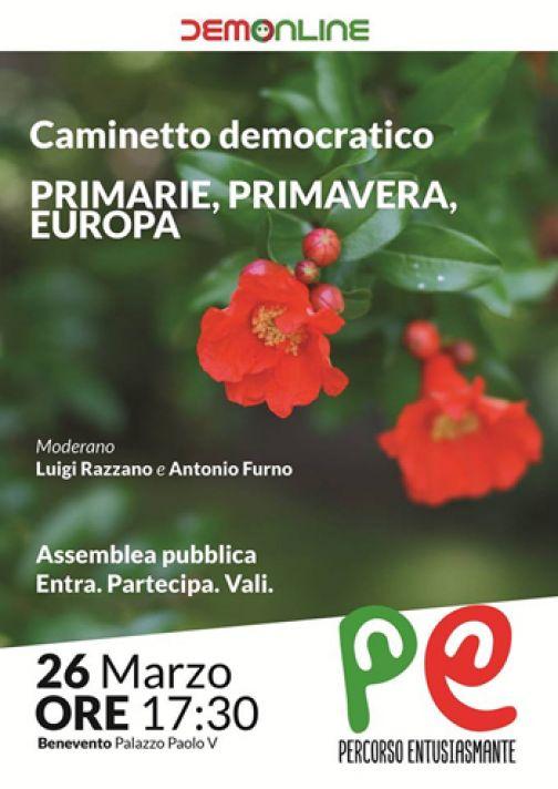 Domani a Palazzo Paolo V ritorna il Caminetto Democratico