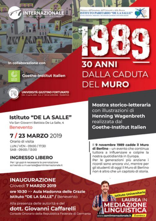 """La SSML di Benevento inaugura """"1989  – 30 anni dalla caduta del MURO"""""""