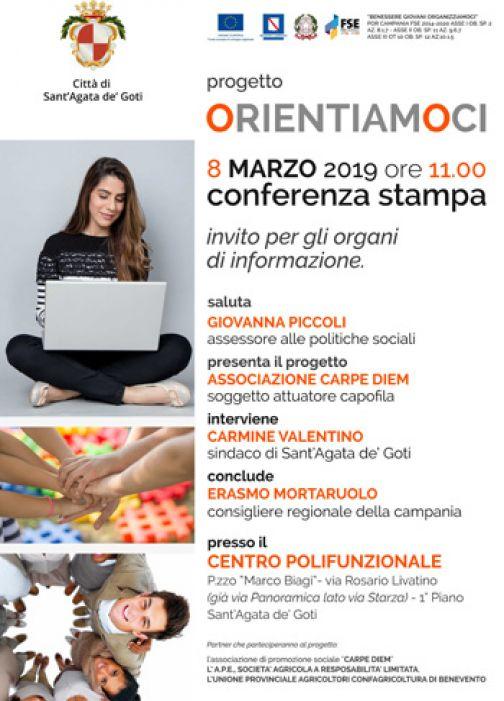 Domani a Sant'Agata la presentazione del progetto Orientiamoci
