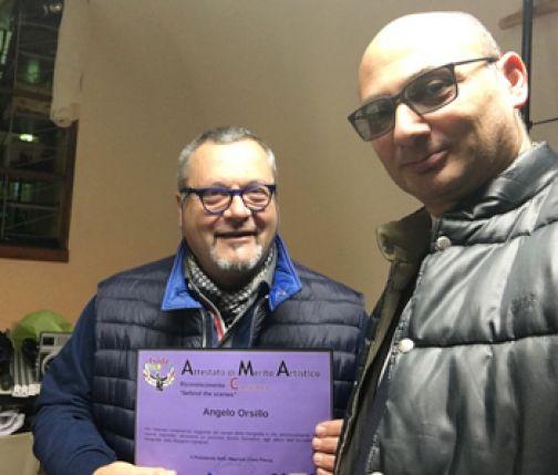 Premio Iside ad Angelo Orsillo dell'accademia J. M. Cameron