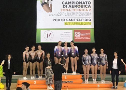 Ginnastica Aerobica, podio interregionale Gold per il C.G. Benevento