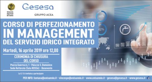 """Gesesa-Università, domani chiusura Corso di perfezionamento in """"Management del servizio idrico integrato"""""""
