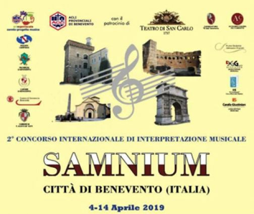 """Al via il 2° Concorso Internazionale di Interpretazione Musicale """"Samnium"""""""