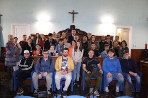 """Studenti Erasmus + Stop Bullyng ricevuti alla """"Rocca"""""""