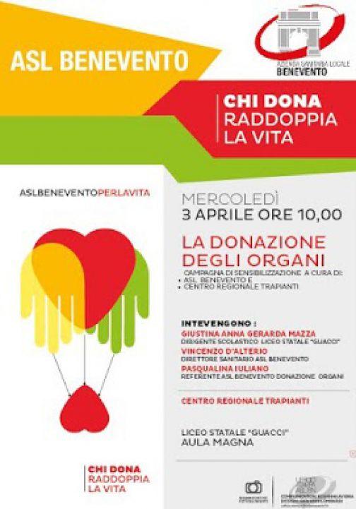 Asl, donazione d'organi: al via le giornate di sensibilizzazione