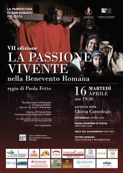 Martedì 16 aprile torna La Passione Vivente nella Benevento Romana