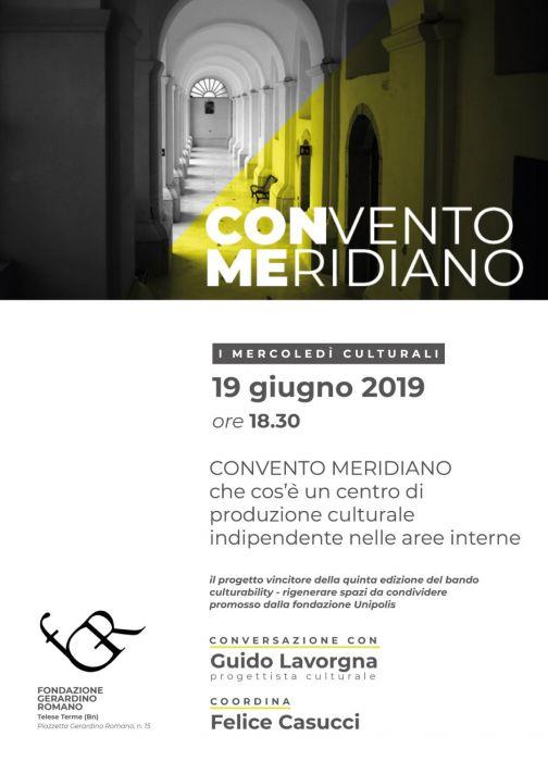 Alla Fondazione 'Romano' si parlerà di 'Convento Meridiano'