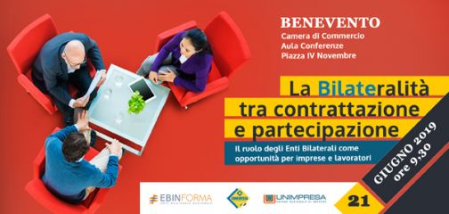 Unimpresa, venerdì giornata di sudi sulla centralità degli Enti Bilaterali nella società italiana