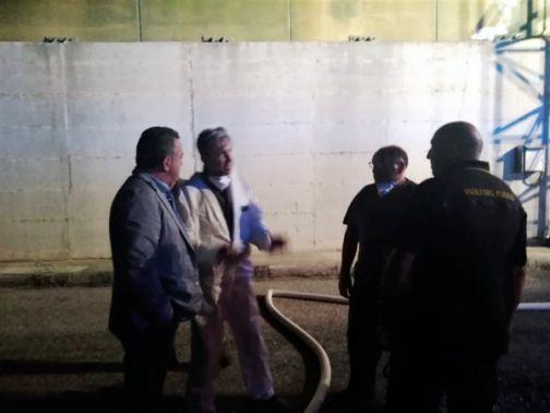 Incendio Stir di Casalduni, sopralluogo del Presidente della Provincia