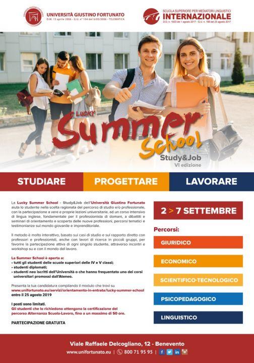 All'Unifortunato Summer School, dal 2 al 7 settembre