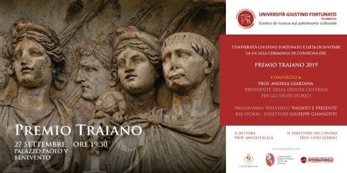 Unifortunato, Premio Traiano: prima edizione a Palazzo Paolo V