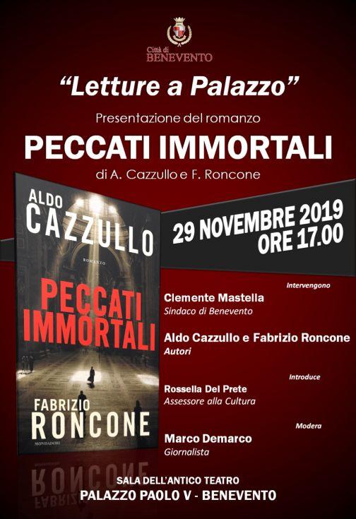 """A Palazzo Paolo V la presentazione del libro """"Peccati Mortali"""""""