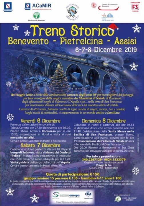 Iscrizioni per il Treno Speciale Benevento-Pietrelcina-Assisi