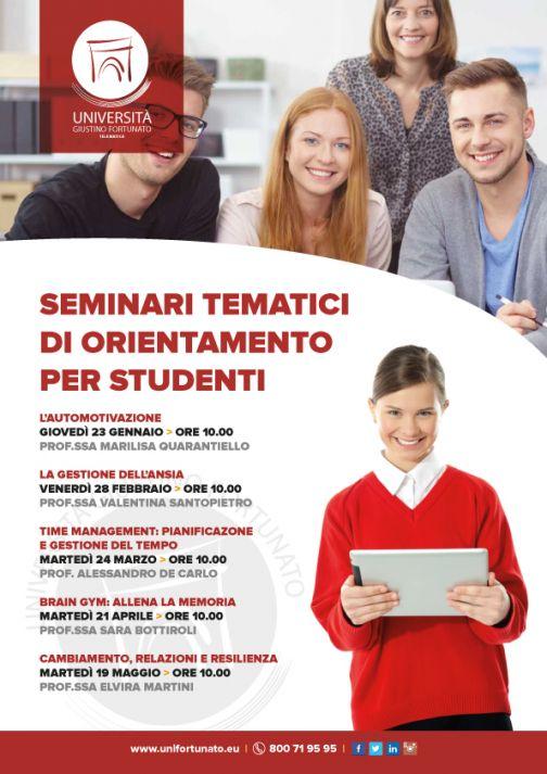 Unifortunato, seminari tematici di orientamento per studenti