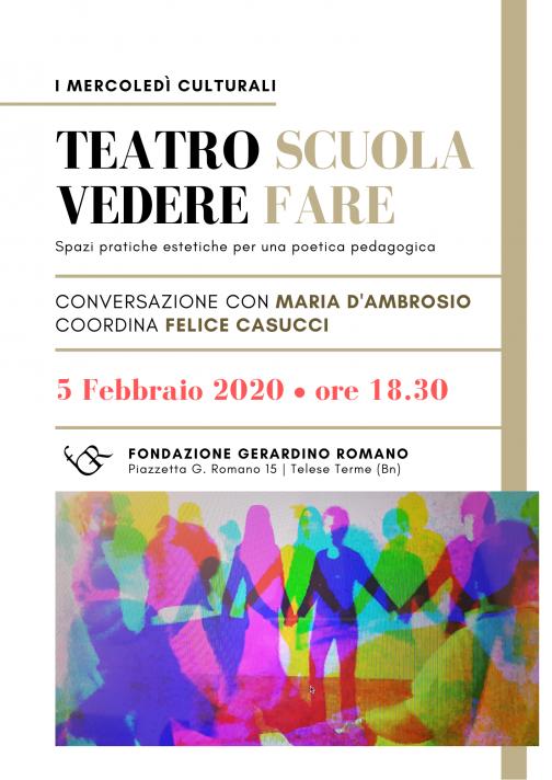 Alla Fondazione Romano presentazione libro 'Teatro Scuola Vedere Fare'