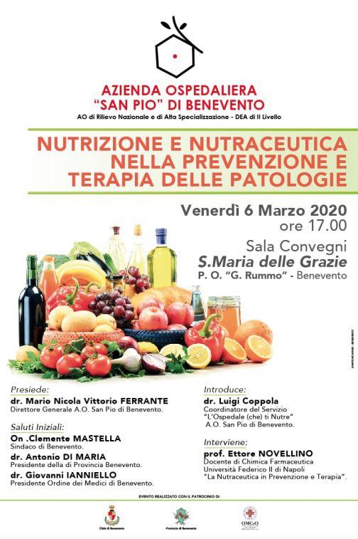 """Al San Pio convegno su '""""Nutrizione e Nutraceutica'"""