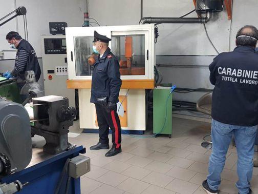 Sannio, Carabinieri del Nucleo Ispettorato del Lavoro: controlli nelle fabbriche