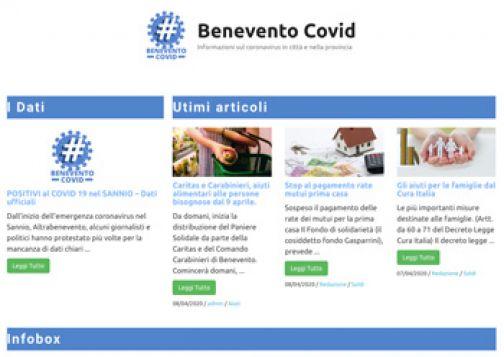 Attivo il sito internet 'beneventocovid.it' di Altrabenevento per l'emergenza sanitaria