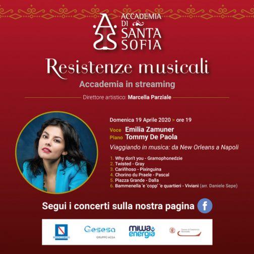 Resistenze Musicali, i concerti in streaming dell'Accademia di S. Sofia