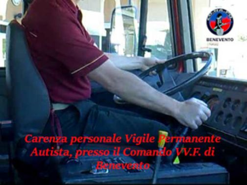 S.O.S. Conapo: i Vigili del fuoco di Benevento rischiano di restare senza autisti