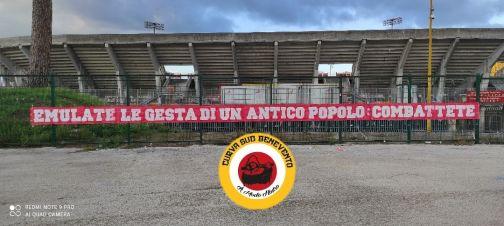 """Curva Sud Benevento: """"Battere il Crotone significa onorare la città… Sempre al vostro fianco"""""""